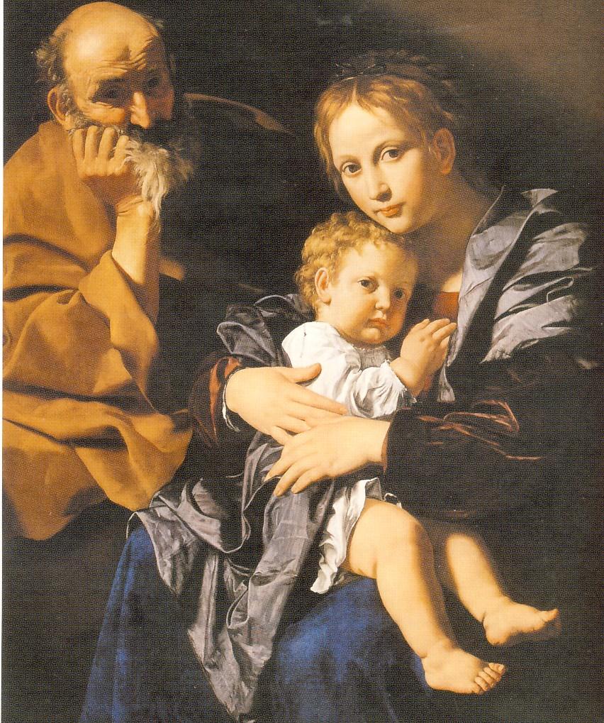 B.CAVAROZZI, Sacra Famiglia, (particolare), olio su tela, cm.118 x 126, Genova, in deposito presso la Galleria Nazionale della Liguria deposito a Palazzo Spinola
