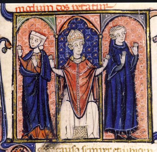 Miniatura dal Decretum Gratiani, XIII secolo