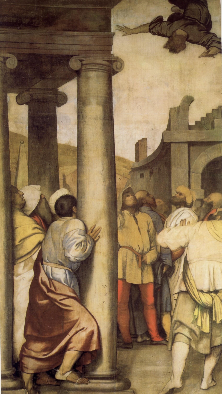 Alessandro Bonvicino detto il Moretto, La caduta di Simonmago, XVI secolo, Brescia, Seminariodiocesano