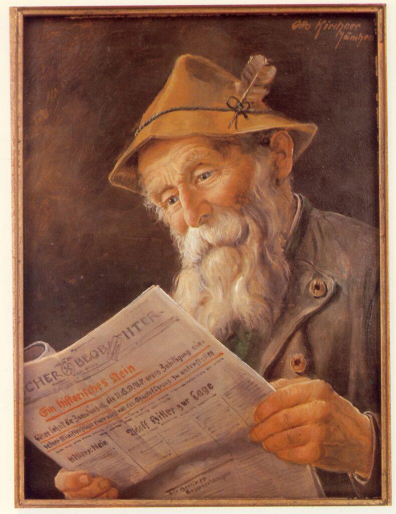 Otto Kirchner, Vecchio lettore di giornale
