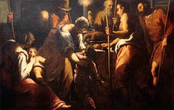 Palma il Giovane, Pasqua ebraica, 1580, olio su tela, 140x235, Venezia, San Giacomo dell'Orio