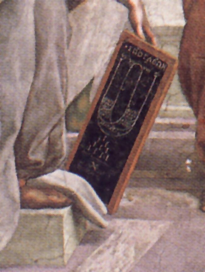 Raffaello, Scuola di Atene, particolare