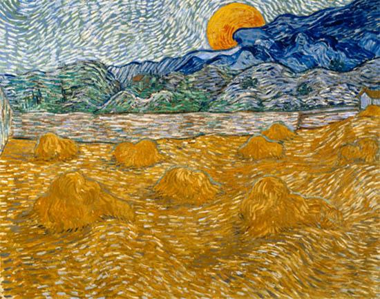 Vincent van Gogh Paesaggio con covoni di grano e luna che sorge Olio su tela, cm 72 x 91,3 1889 Kröller-Müller Museum © Kröller-Müller Museum
