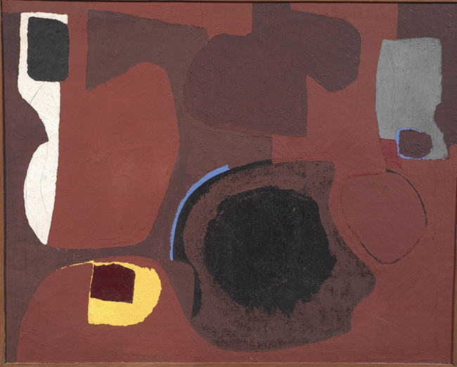 Alberto Burri Catrame (1950) Collezione Privata, Galleria Tornabuoni Arte.
