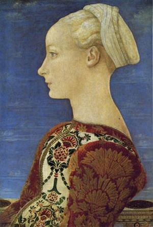 26.Piero del Pollaiolo Ritratto di giovane donna, 1465 tempera e olio su tavola di pioppo, cm 52,5 x 36,5  ©Berlino, Gemäldegalerie, Staatliche Museen zu Berlin, Preußischer Kulturbesitz