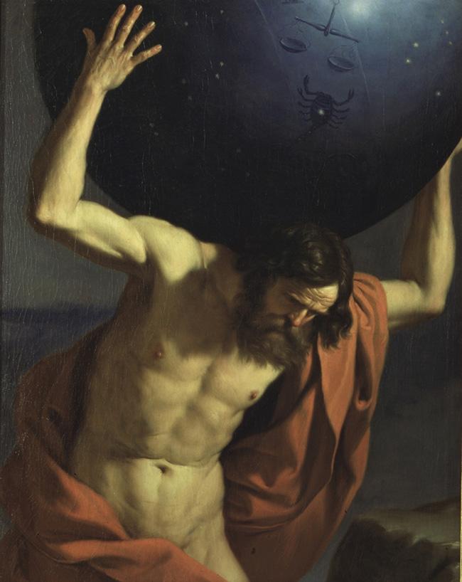 Giovanni Francesco Barbieri (Guercino) Atlante (1645-1646). Musei Civici Fiorentini - Museo Stefano Bardini.