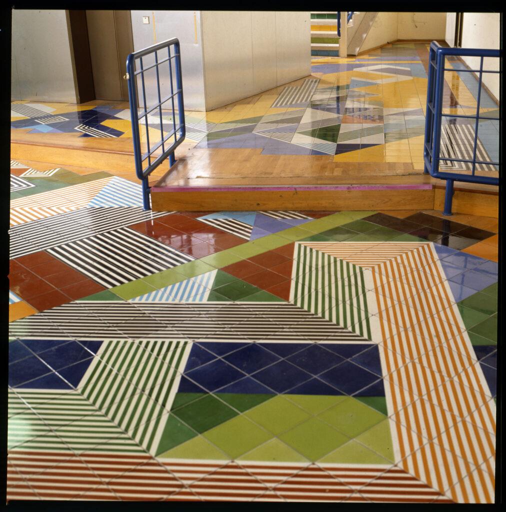 Gio Ponti, Pavimenti per gli uffici della Salzburger Nachrichten | Veduta del pavimento a Salisburgo @ Gio Ponti Archives