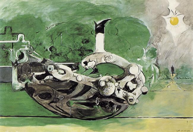 Graham Sutherland, Poised Form in a Landscape, Collezione Barilla d'Arte moderna, Parma
