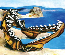 Renato Guttuso, Jaws of a Shark in a Landscape, 1974 © DACS, 2014.