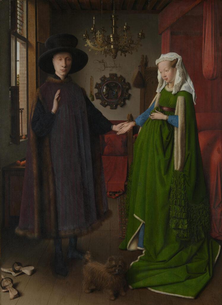 Jan Van Eyck, Ritratto dei coniugi Arnolfini (?), olio su tavola, 81,80x59,40 cm