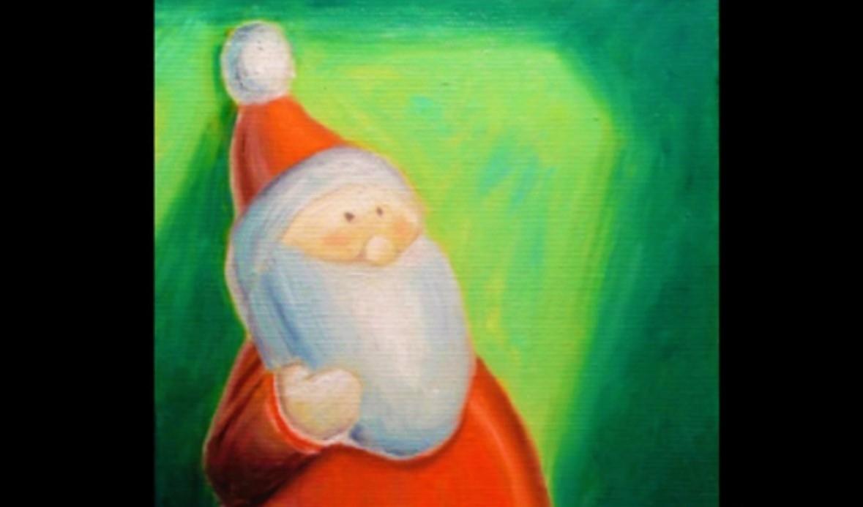 Un bel Babbo Natale, facile da realizzare o ottimo da stampare e ricalcare o usare come formina per tante decorazioni