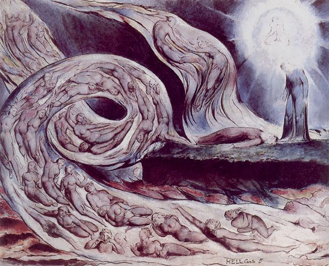 William Blake, Il cerchio della lussuria: Paolo e Francesca