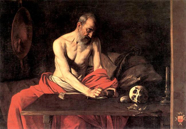 Caravaggio, San Girolamo, part