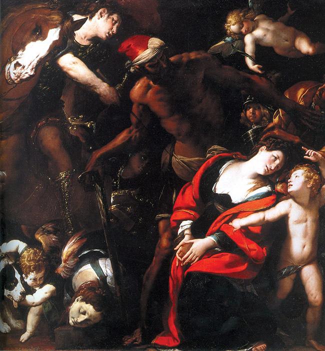 """""""Martirio delle sante Rufina e Seconda"""", meglio conosciuto come il """"Quadro delle tre mani"""""""