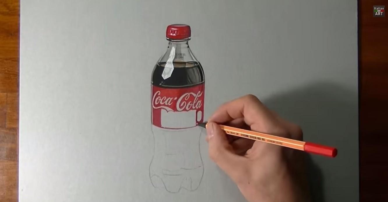 Disegnare una bottiglia di Coca Cola