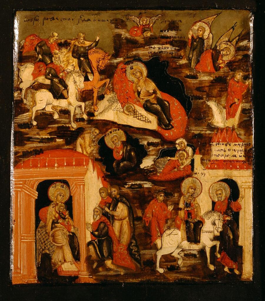 Bottega russa del secondo quarto del XVIII secolo, Natività e storie dell'Infanzia di Gesù