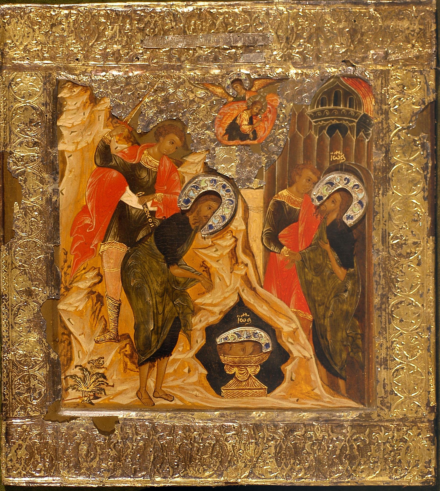 Bottega moscovita, Fine del XVI- inizio del XVII secolo, Decollazione del Battista, Firenze, Galleria degli Uffizi, inv. 1890