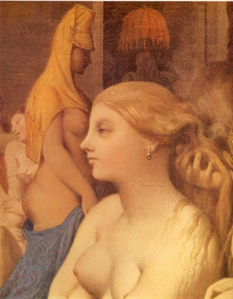 J.A.D INGRES, Il bagno turco (part.), 1859-63, Ø cm.108, olio su tela applicata su tavola, Parigi, Museo del Louvre
