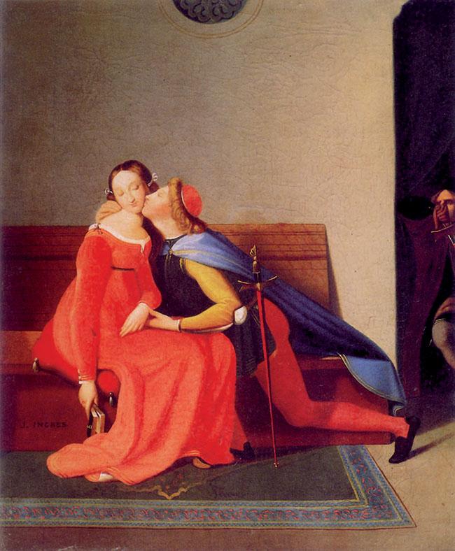 Jean-Auguste Dominique Ingres , Paolo e Francesca