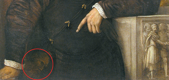 """Il volto di Paolo III """"nascosto"""" nel quadro"""
