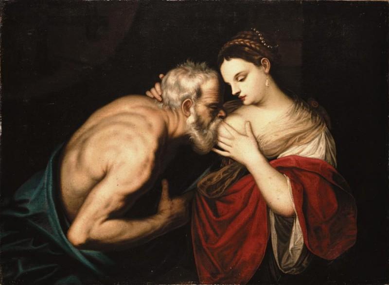 Ambito di Alessandro Varotari, il Padovanino, Carità romana, olio su tela, cm 95,5x129,5