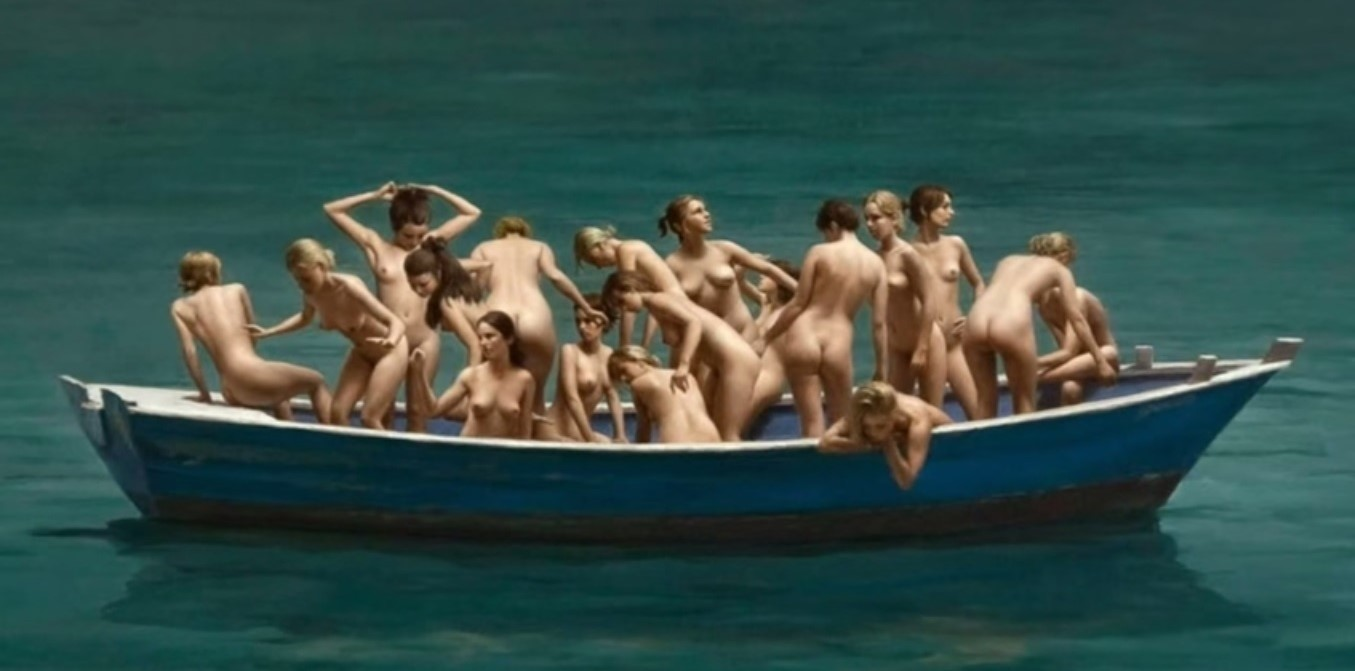 ragazze nude sulla barca