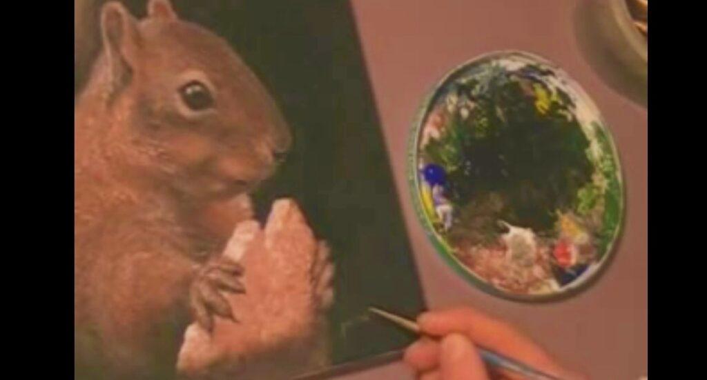 Disegnare e dipingere uno scoiattolo