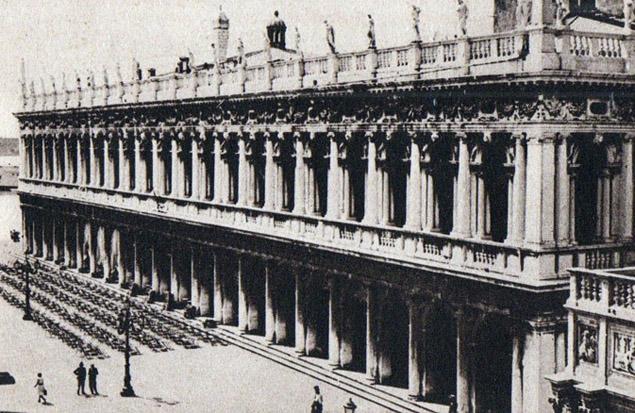 La biblioteca Marciana di Venezia. Questa 'immagine fu posta da Freud sulla parete del suo studio viennese, di fronte al mitico lettino della psicanalisi