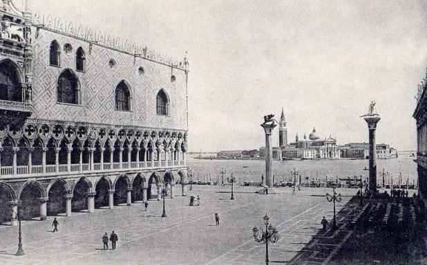 Veduta di Venezia con palazzo ducale. Questa 'immagine fu posta da Freud sulla parete del suo studio viennese, di fronte al mitico lettino della psicanalisi