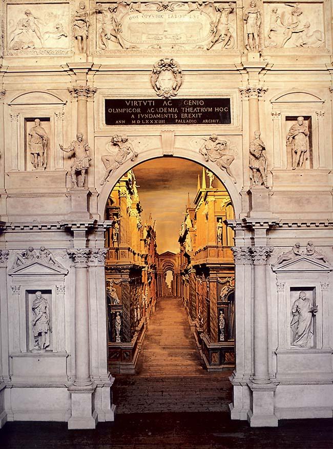 Andrea Palladio, Teatro Olimpico di Vicenza, scenafronte