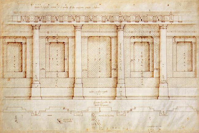 Andrea Palladio, ricostruzione del teatro romano di Verona, passeggiata