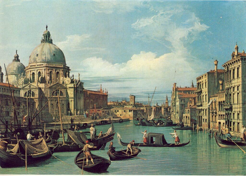 G.A.CANAL detto CANALETTO, L'ingresso di Canal Grande con la Dogana e la Chiesa della Salute, 1730, olio su tela, 49, 5 x 72, 5 cm, Huston, Museum of Fine Arts