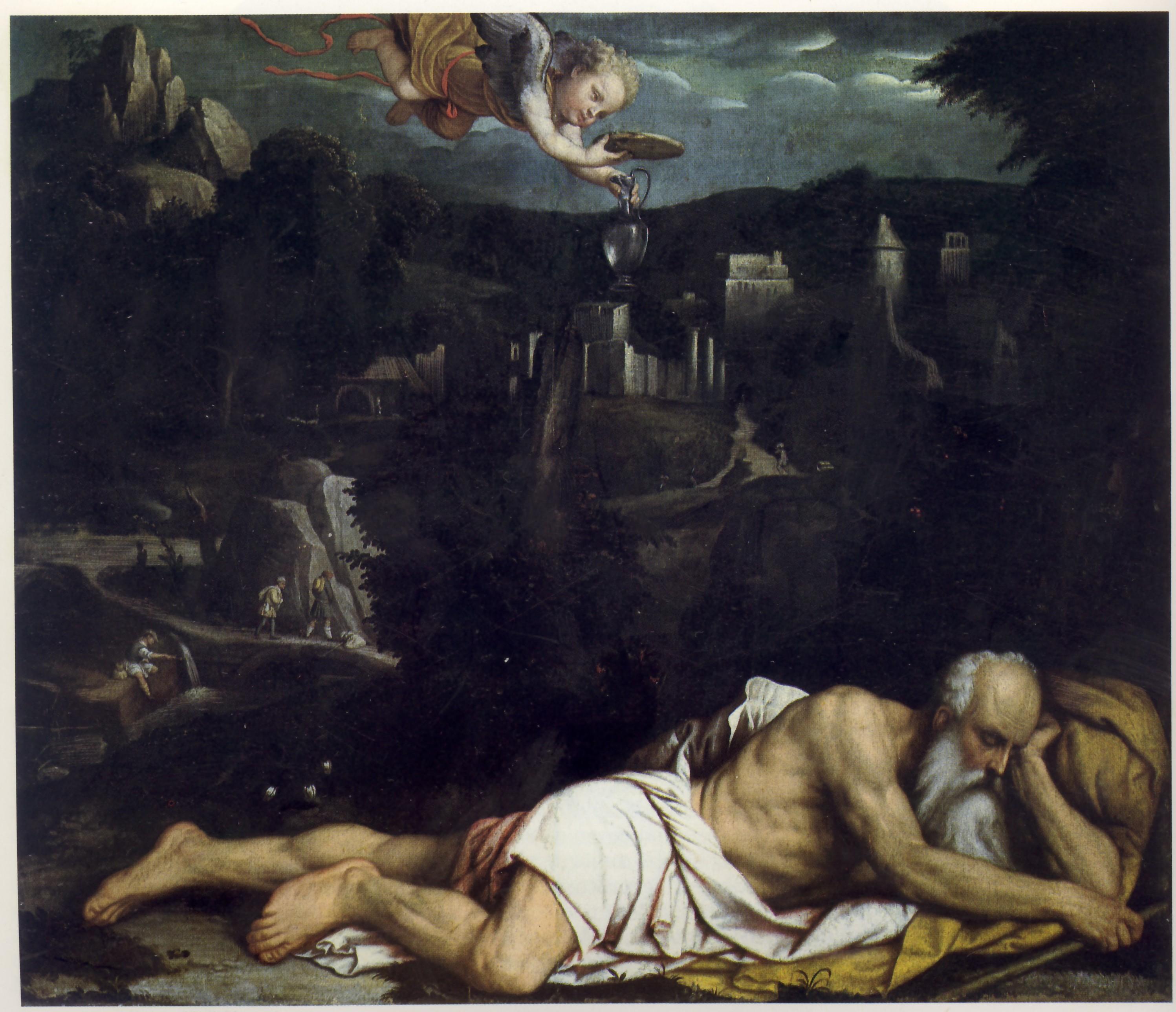 Elia confortato dall'Angelo