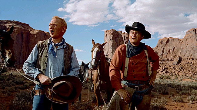 John Wayne in uno dei suoi film western