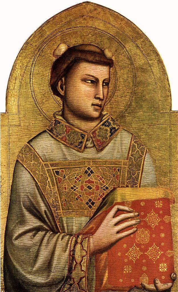 Giotto di Bondone, Santo Stefano, 1320-1325, tempera su tavola, Firenze, Museo Horne