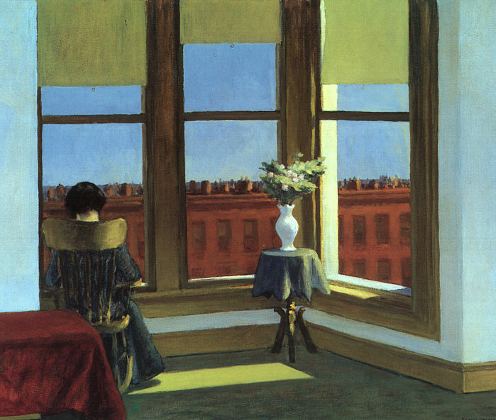 E. HOPPER, Stanza a Brooklyn, 1932, olio su tela, 85 x 72,5 cm, Boston, Museum of Fine Arts