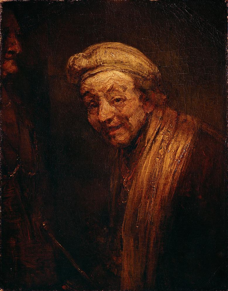 Rembrandt Harmensz. van Rijn (1606-1669), Autoritratto, circa 1668, olio su tela, 82,5 x 65 cm. L'opera risponde perfettamente ai criteri del tonalismo e avvicina questo quadro di estrema espressività a un monocromo. Il tonalismo sembra emergere con prepotenza nella maturità di alcuni artisti, quando la policromia sembra perdere di significato a favore di una pittura più forte, inferiormente decorativa ma frutto di una interiorità più libera