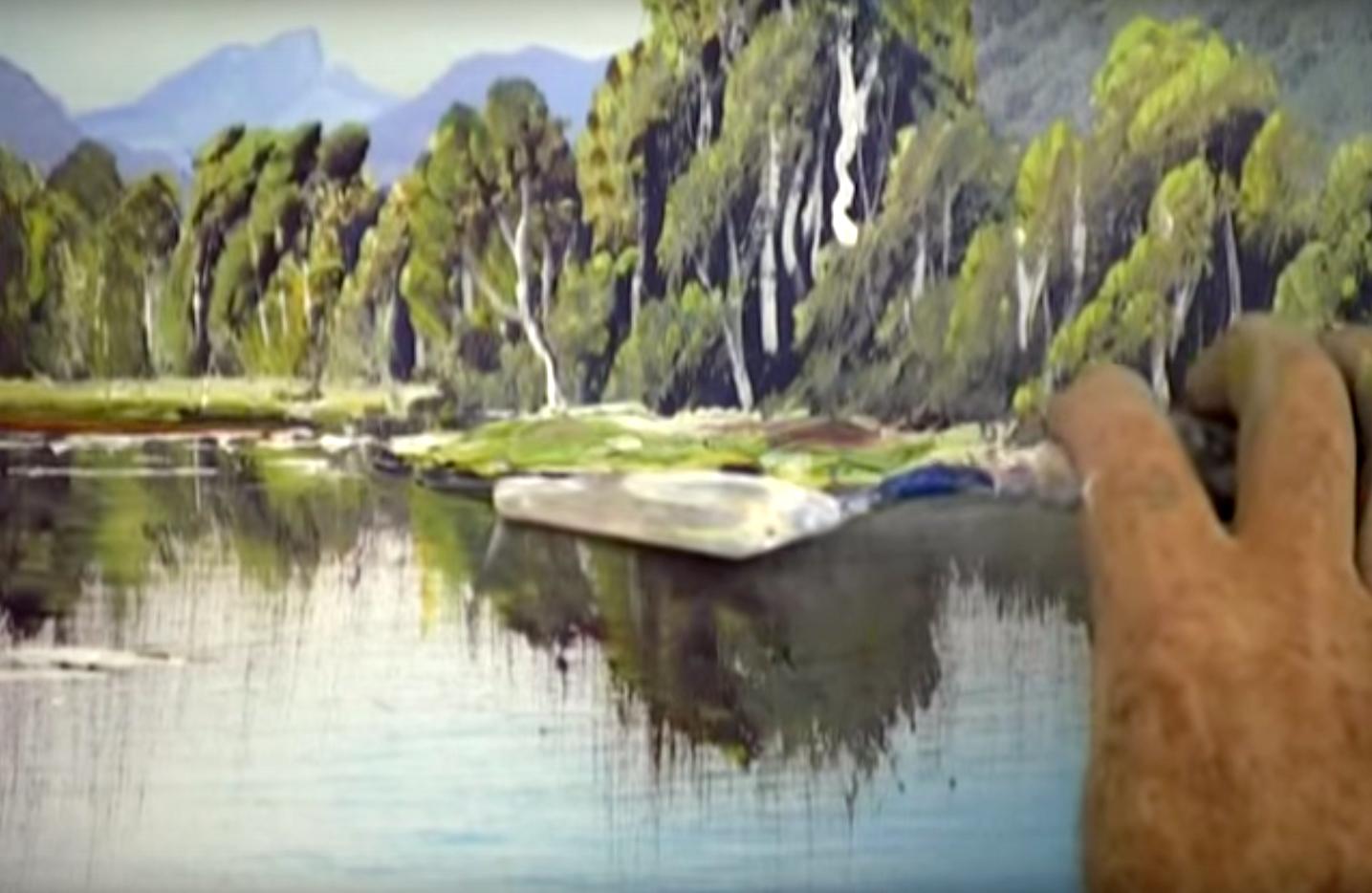 Tecnica per ottenere riflessi realistici nei dipinti di paesaggio con acque di lago o acque quasi ferme