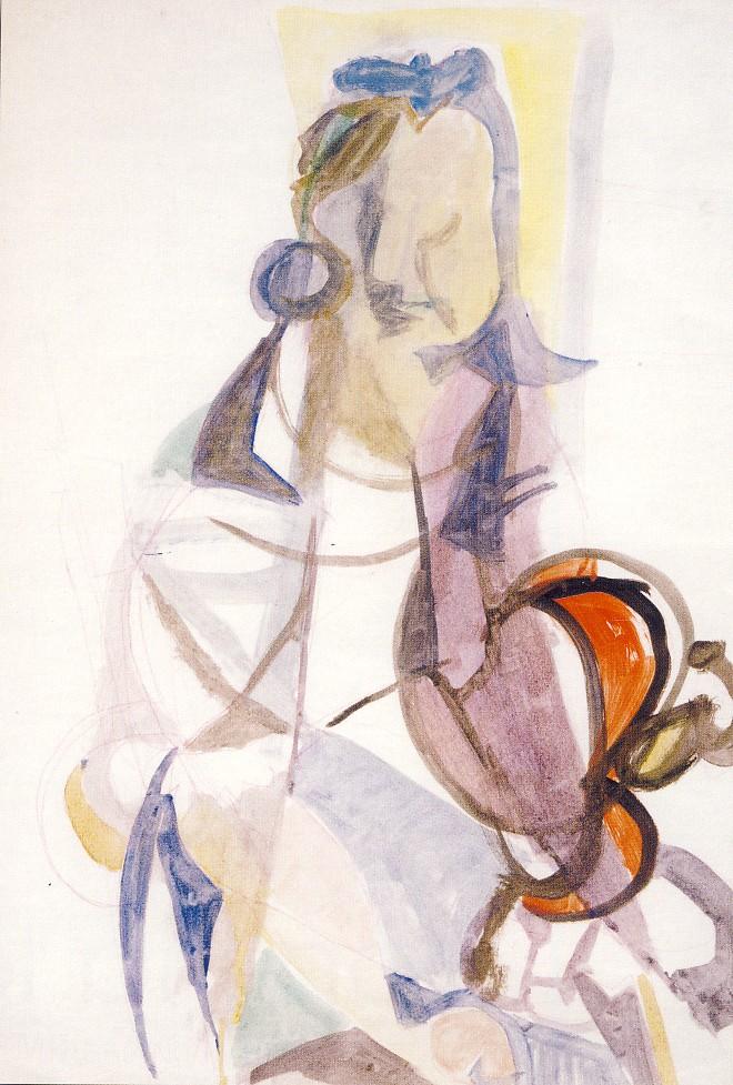 AFRO, Senza titolo,1946, tecnica mista su carta, collezione privata