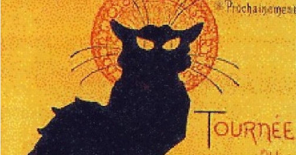 T.A.STEINLEN, Tournée di Chat Noir, 1896, litografia a colori, 40 x 62 cm, Amsterdam, Museo Van Gogh