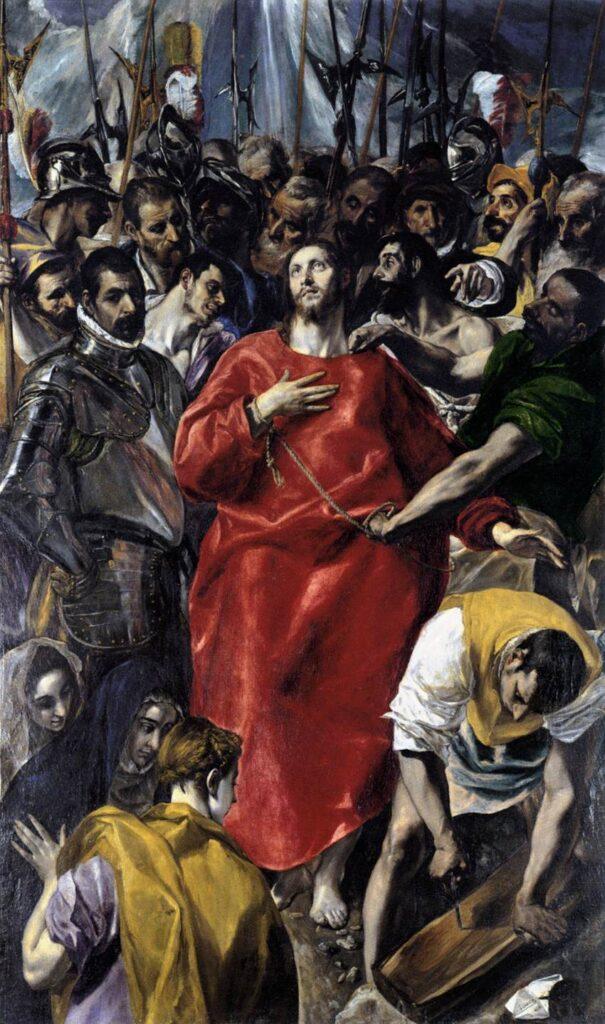 La Spoliazione di Cristo (El Espolio) (1577–1579, olio su tela 285 × 173 cm, Sacrestia della Cattedrale, Toledo)