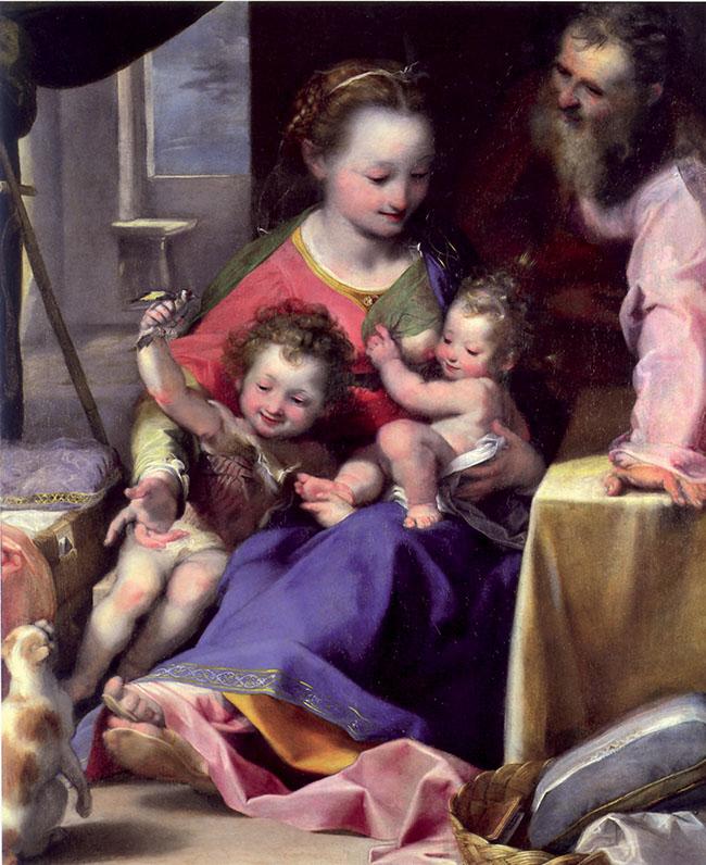 Federico Barocci, Madonna del gatto, un'altra opera dell'artista dove compare  il felino domestico