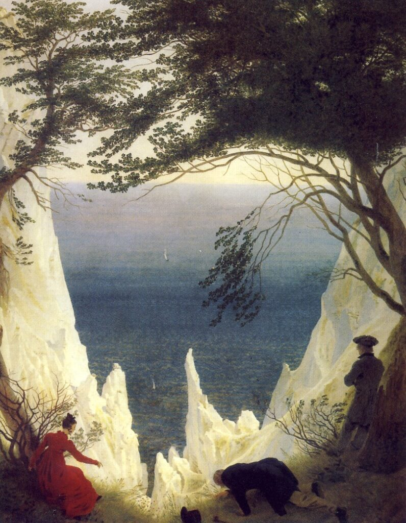 C.D.FRIEDRICH,Le bianche scogliere di Rügen, 1818, olio su tela, cm. 90 x 70, Winterthur, Fondazione Reinhart