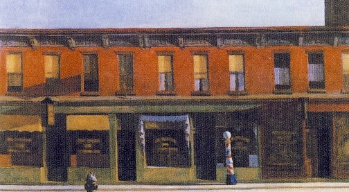 E.HOPPER, Domenica mattina, 1930, olio su tela, 89.4 x 153 cm, New York, Whitney Museum of American Art