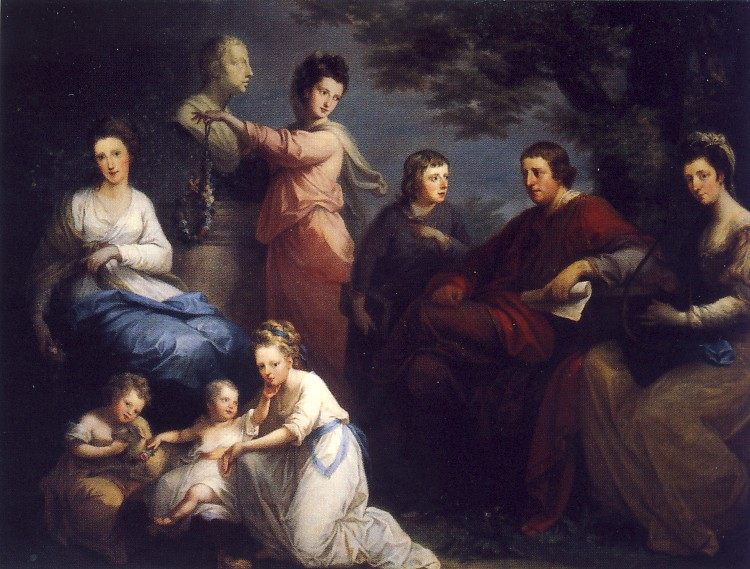 A. KAUFFMAN, La famiglia del conte Gower, 1772, olio su tela, 150,5 x 208,3 cm, Washington D.C., National Museum of Women in the Art
