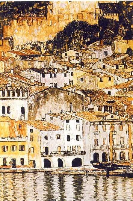 GUSTAV KLIMT, Malcesine (part.), 1913, olio su tela, 110 x 110, opera distrutta nel 1945