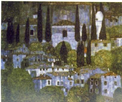 GUSTAV KLIMT, La chiesa del Cassone, 1913, olio su tela, collezione privata