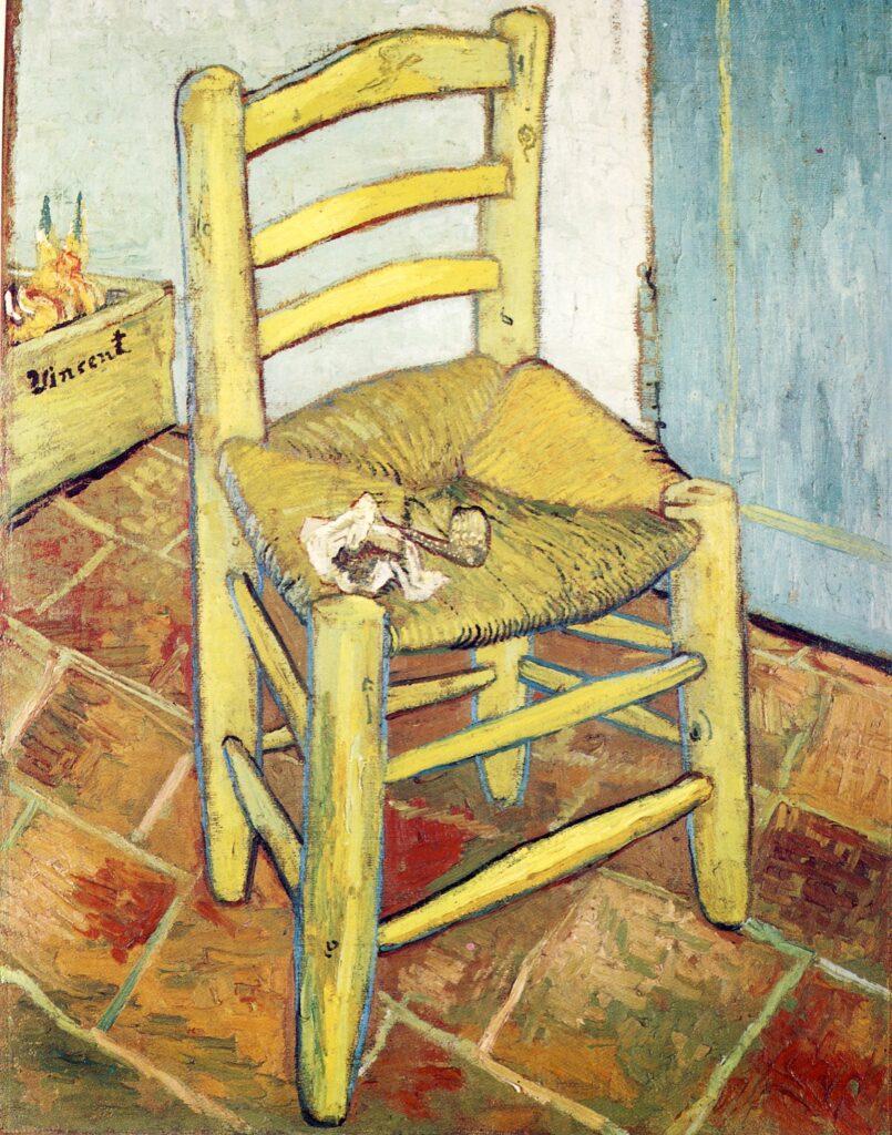 V.VAN GOGH, La sedia di Van Gogh (ad Arles con pipa), 1888, olio su tela, 93 x 73,5 cm, Londra, National Gallery