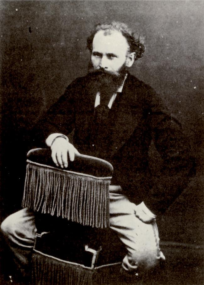 Manet fotografato da Nadar