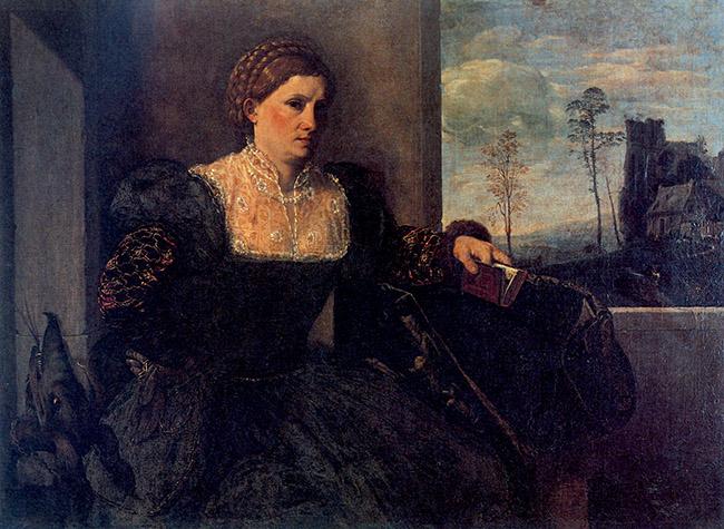 Giovanni Girolamo Savoldo, Ritratto di dama in veste di santa Margherita d'Antiochia